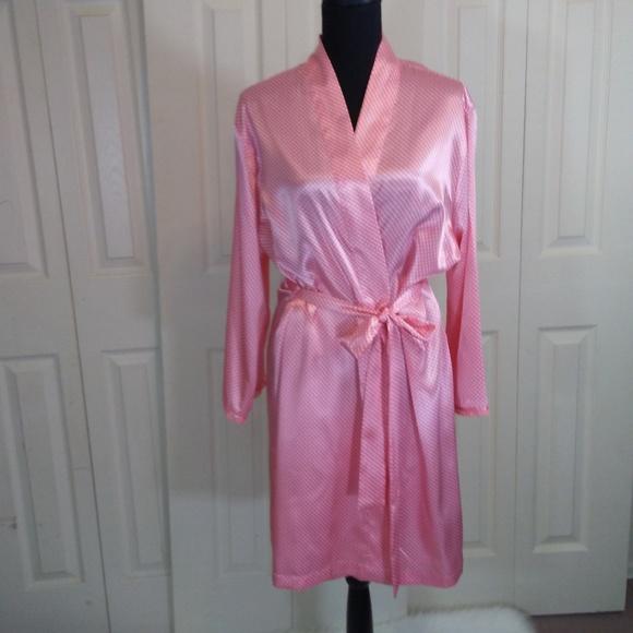 Adonna Other - Adonna Coral White Dot Kimono Robe